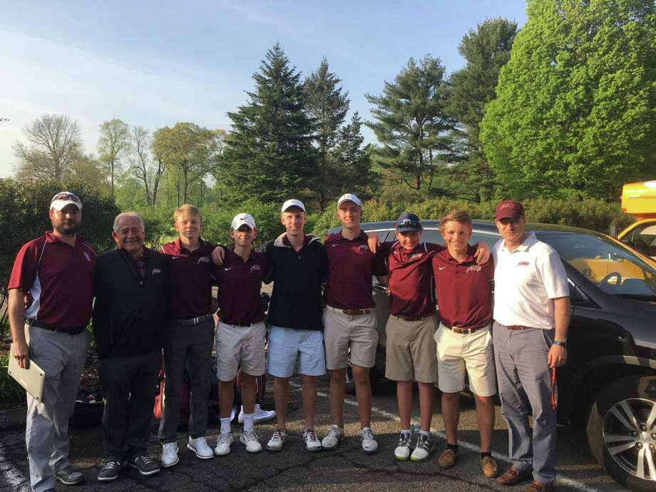 The St. Luke's golf team poses after winning its third-straight FAA title. Photo: Contributed Photo / Darien News contributed