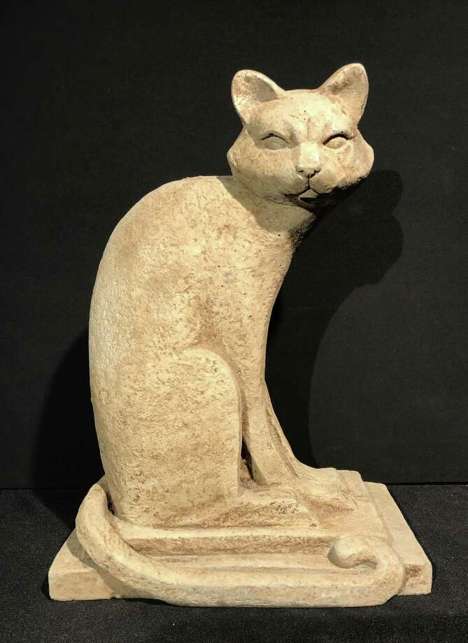 "A cast stone Art Deco cat offered by Jewett and Berdan, which will be on display at the ""Objects of Desire: Style for the Garden and Home"" show from June 1-3 at the Wilton Historical Society, 224 Danbury Road. Photo: Contributed Photo"
