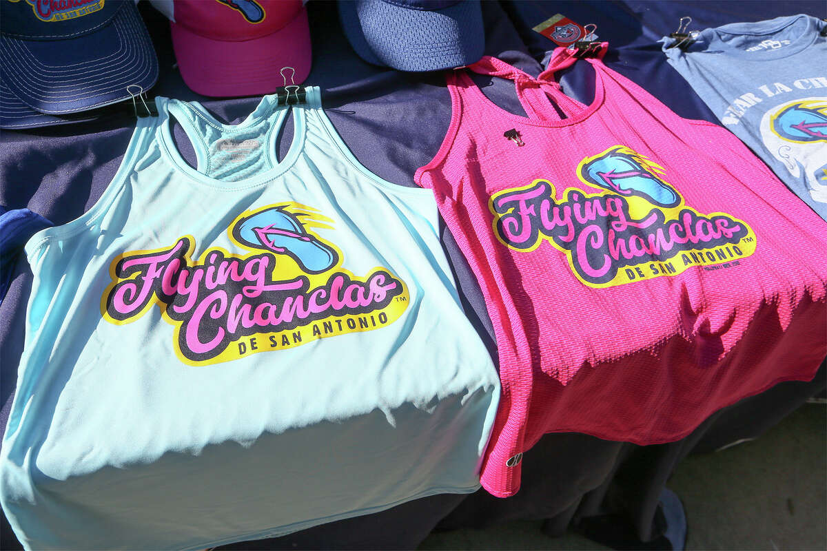 Flying Chanclas tops for sale during the Flying Chanclas' game with Tulsa at Wolff Stadium on Thursday, May 24, 2018. MARVIN PFEIFFER/mpfeiffer@express-news.net