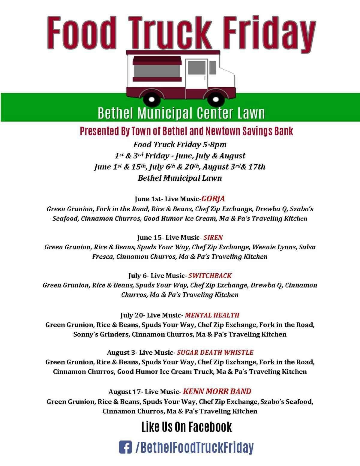 Bethel S Food Truck Friday Returns This Week