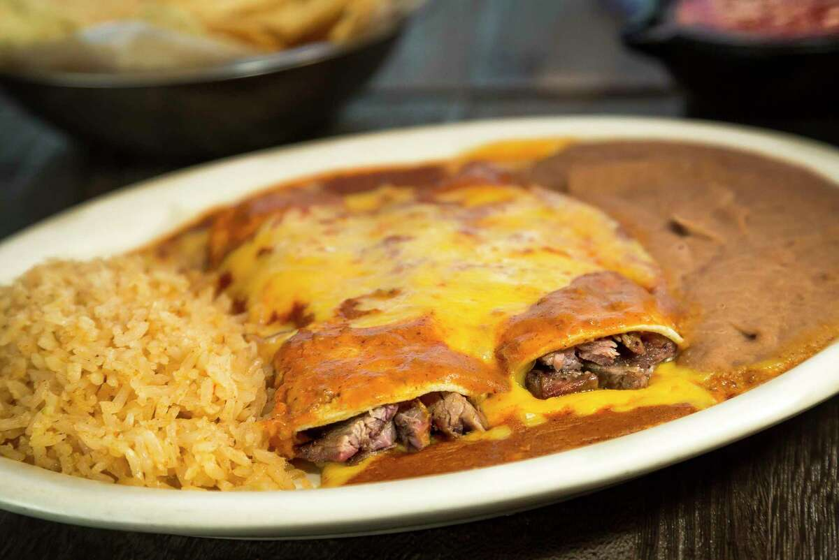 Lopez Mexican Restaurant is opening its second restaurant on June 2 at 7277 West Grand Parkway South in Richmond. Shown: Beef fajitas enchiladas.