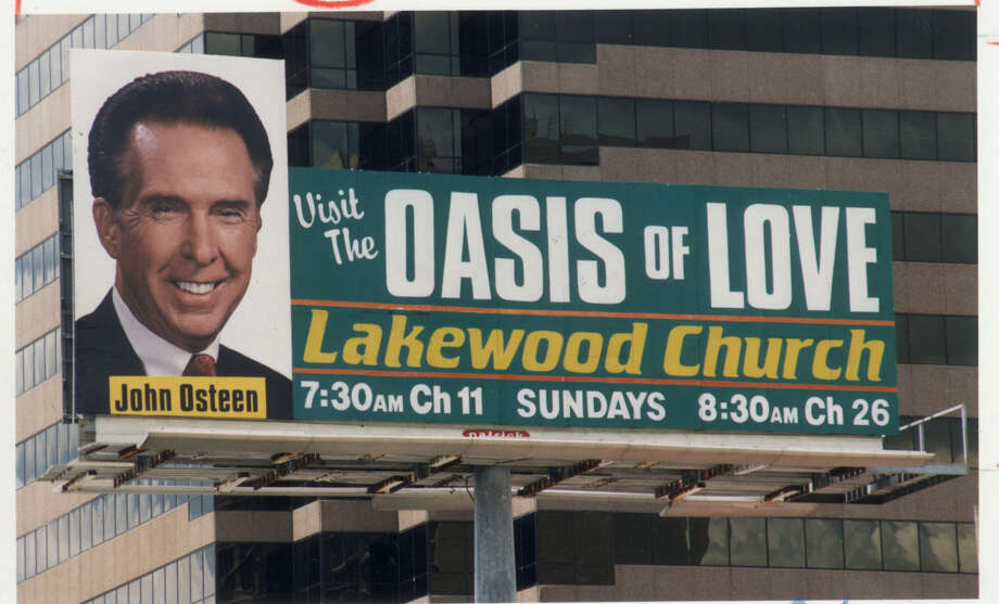 These 1992 billboards advertising Lakewood Church were a familiar sight in Houston. (Houston Chronicle File)