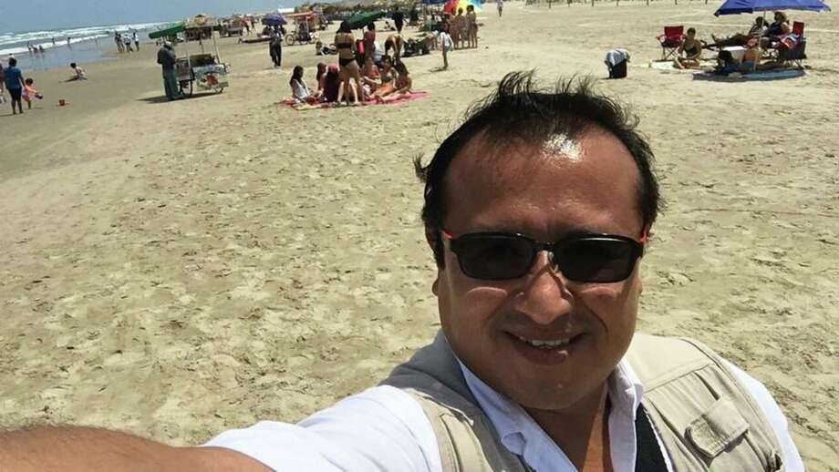 EDITORS NOTE: Graphic content / This picture taken on April 11, 2017 shows Mexican journalist Hector Gonzalez Antonio at Miramar beach in Ciudad Madero, Tamaulipas State, Mexico. Gonzalez Antonio, a correspondent for national daily Excelsior and local media outlets, was found on May 29, 2018 bludgeoned to death in a street in the state capital, Ciudad Victoria, the state prosecutor's office said in a statement. Photo: HO, AFP/Getty Images / AFP or licensors