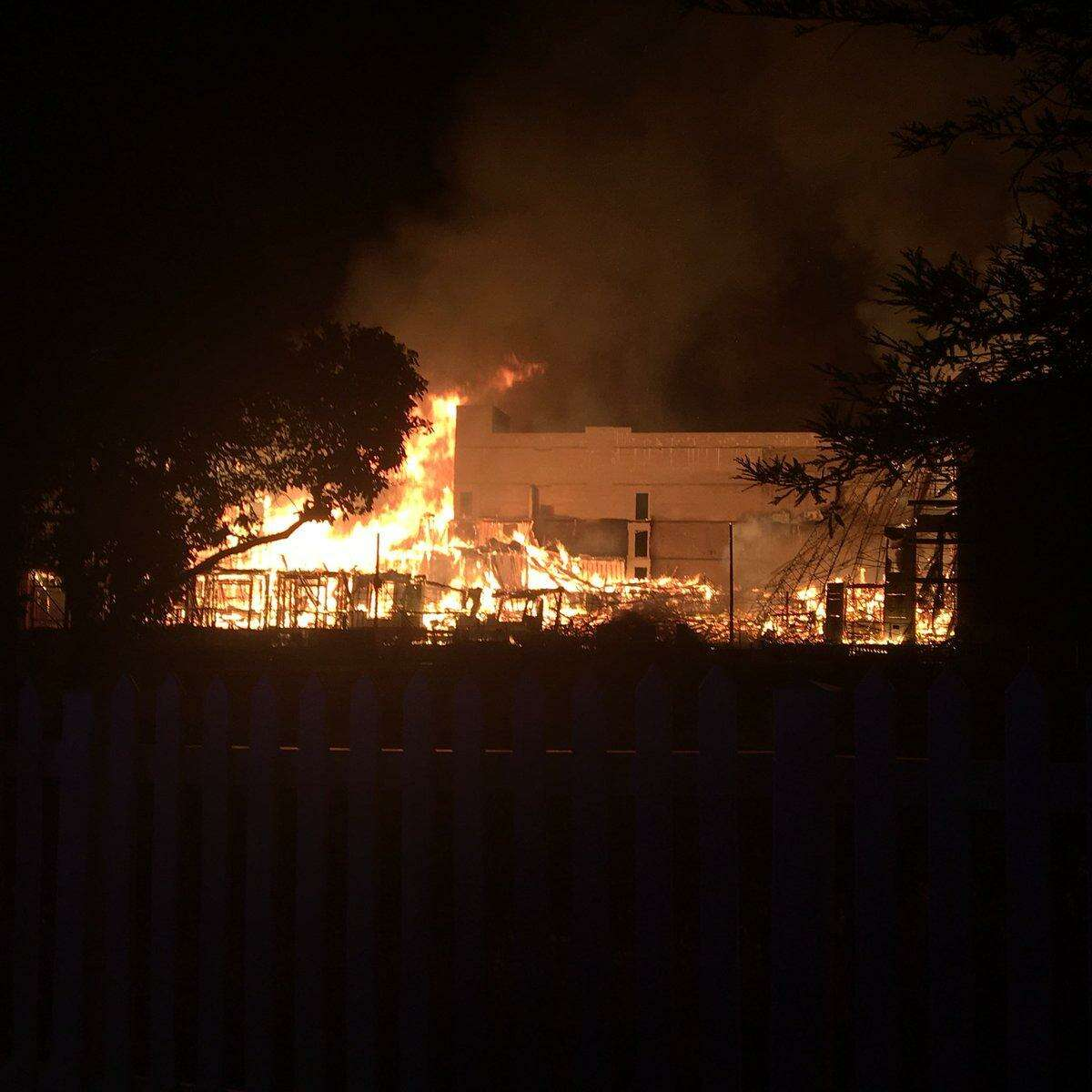 A major fire in Concord destroyed an apartment building that was under construction in the early hours of April 24, 2018. On Wednesday, investigators announced that the fire was caused by arson.