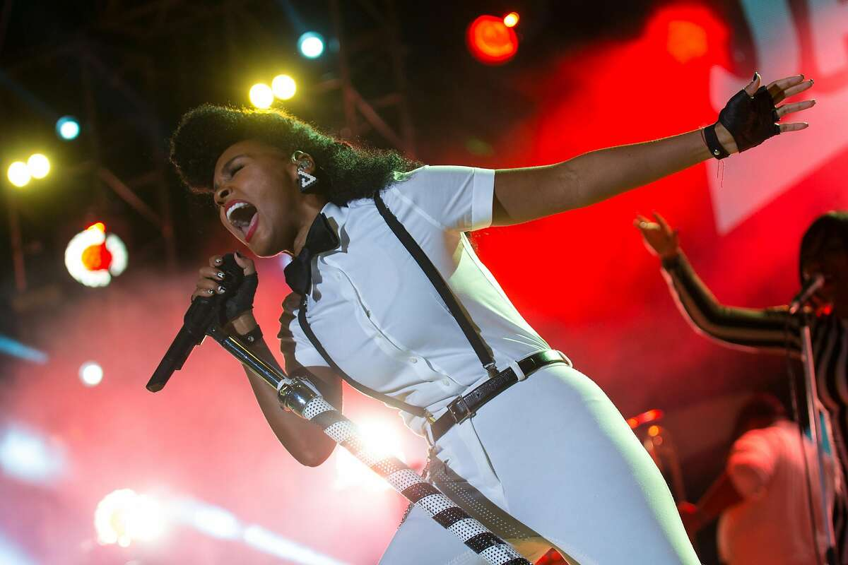 Janelle Monae performs at the Day For Night Light and Sound Festival on Saturday, December 19, 2015 at the Silver Street Studios in Houston, TX