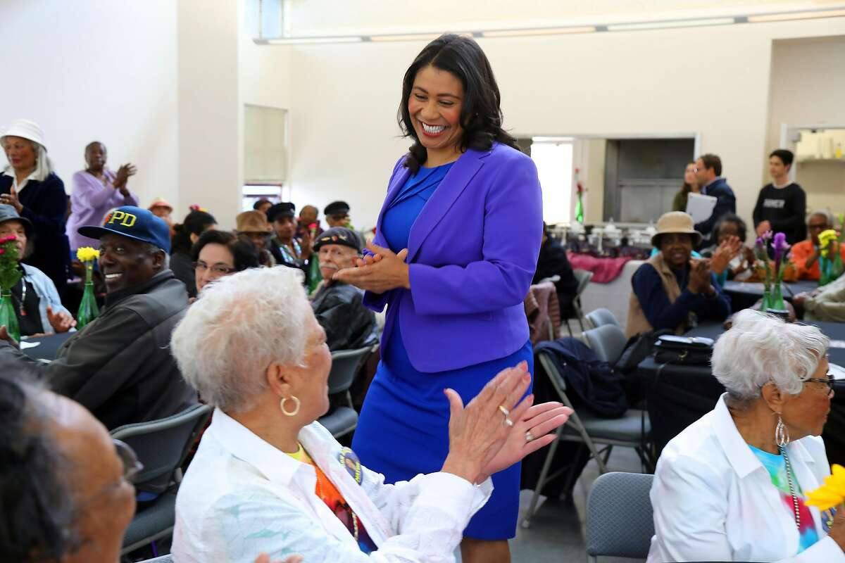 London Breed, a Democratic candidate for mayor of San Francisco, campaigns at a senior center in San Francisco, May 26, 2018. As homelessness, drug use and mental illness have been cited as top concerns of voters, Breed and another candidate, Angela Alioto, are proposing unusually aggressive solutions. (Jim Wilson/The New York Times)