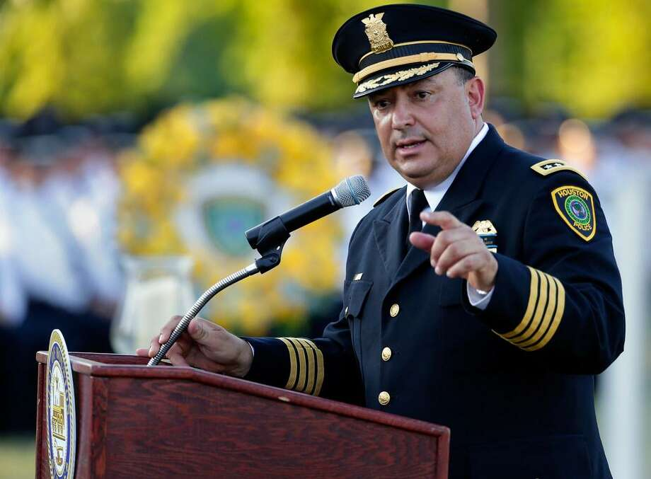 Houston Police Chief Art Acevedo, shown here May 18, has some words about reasonable gun regulations recently. A reader wholeheartedly agrees. Photo: Michael Wyke /Houston Chronicle