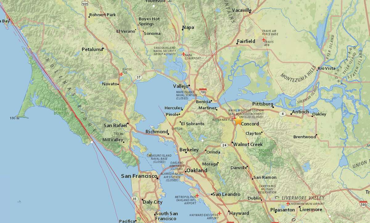 An earthquake with a preliminary 3.1-magnitude struck near Concord, Calif. Wednesday afternoon.