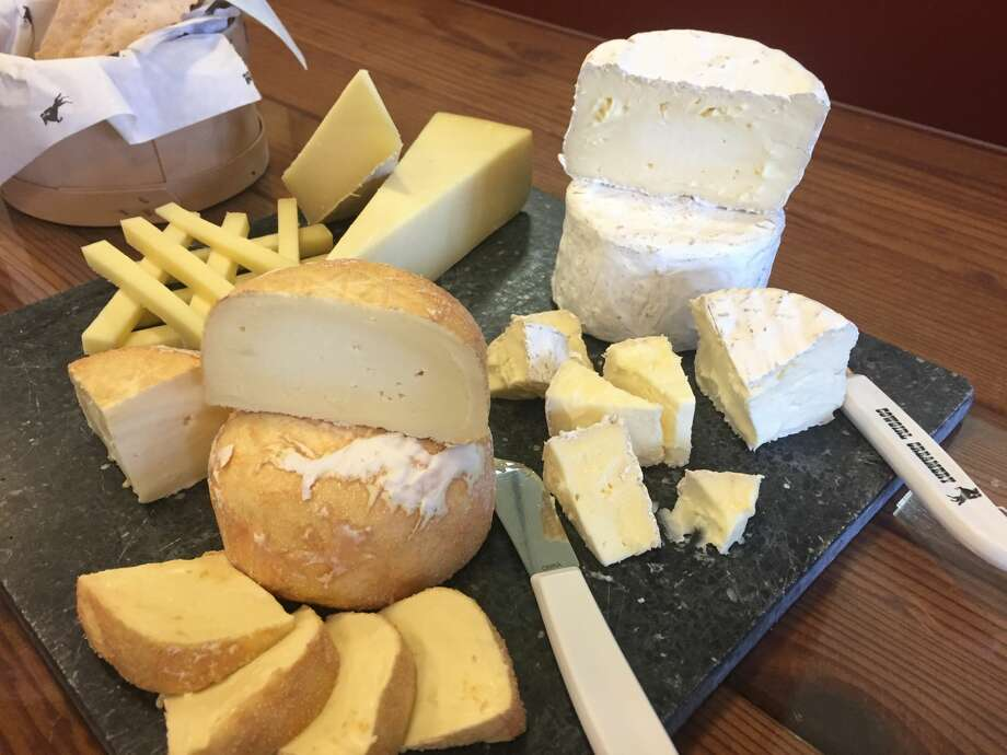 A selection of cheeses from Cowgirl Creamery, including Wagon Wheel, Red Hawk and Mount Tam. Photo: Alix Martichoux / SFGATE