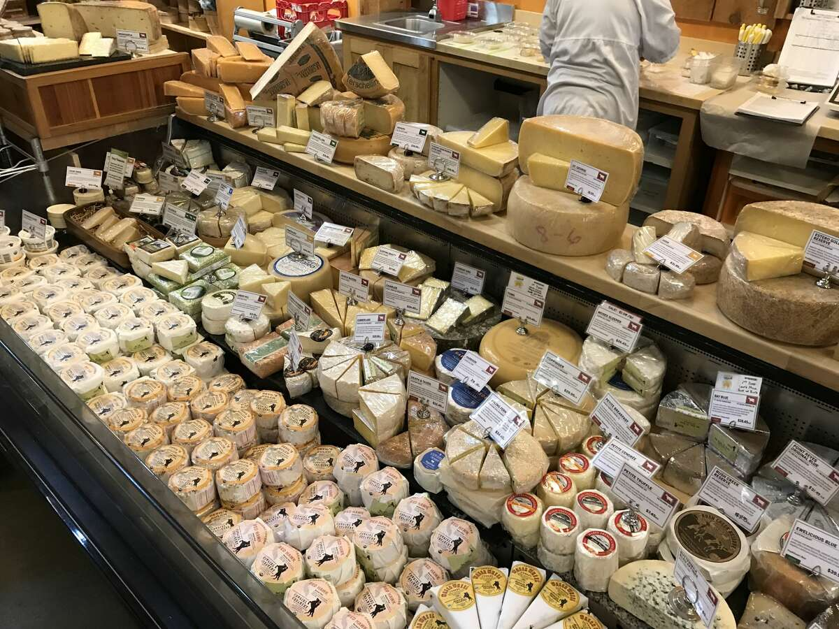 FILE-- A selection of cheeses for sale at Cowgirl Creamery's Point Reyes location. Cowgirl Creamery has a new cheese named Hop Along.
