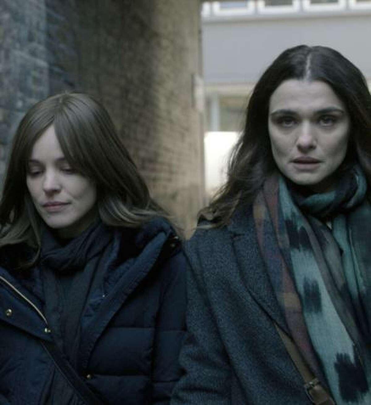 """Rachel McAdams (left) and Rachel Weisz star in """"Disobedience."""""""