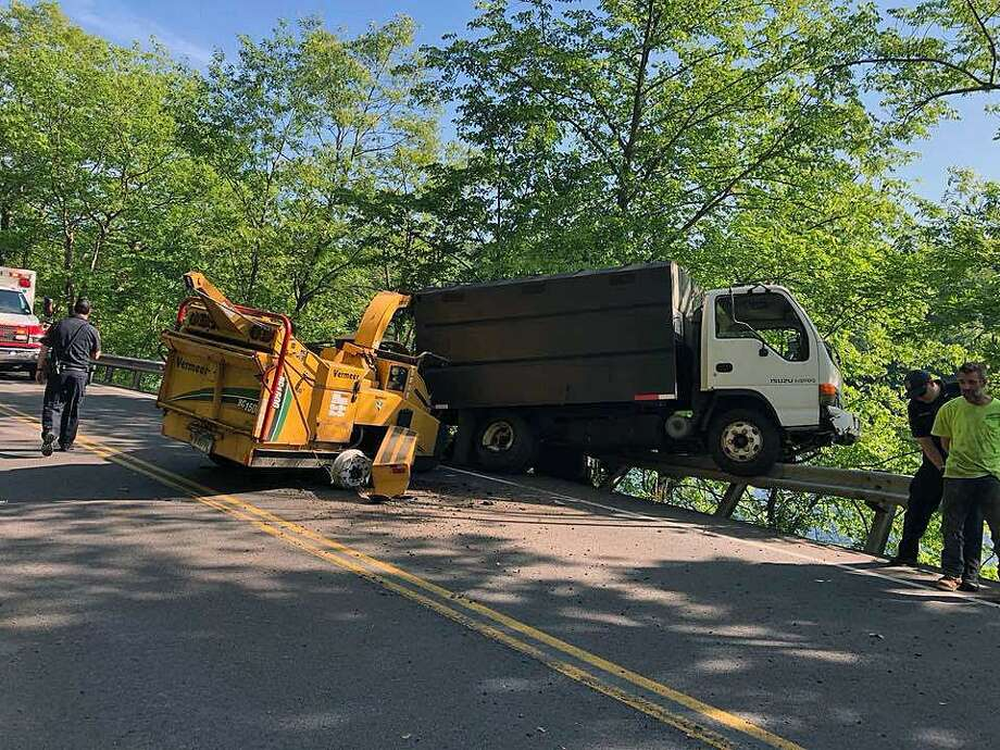 A crash on Route 34 in Derby, Conn., shut down traffic in both directions on May 30, 2018. Photo: Contributed Photo / Derby Fire Department / Contributed Photo / Connecticut Post Contributed