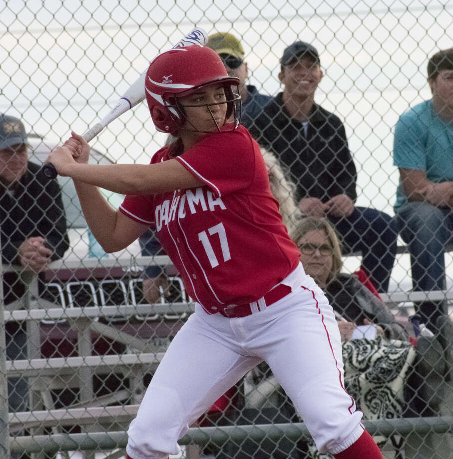 In this Feb. 13 file photo, Coahoma softball player Jaydan Mann looks to hit a pitch. Courtesy photo.