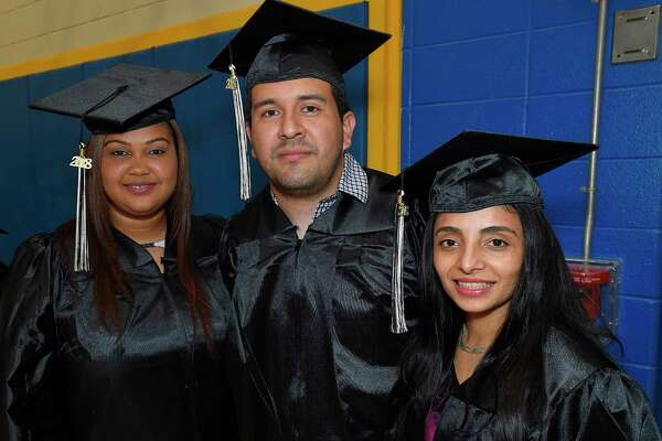 Stamford Public Schools Adult & Continuing Education graduation ceremony at Cloonan Middle School on May 30, 2018 in Stamford, Connecticut.