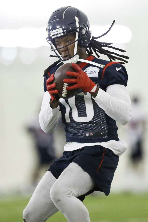 DeAndre Hopkins, voted First-Team All-Pro last season, caught 96 passes for 1,376 yards. He averaged 14.4 yards per catch. Photo: Michael Ciaglo, Houston Chronicle / Houston Chronicle / Michael Ciaglo