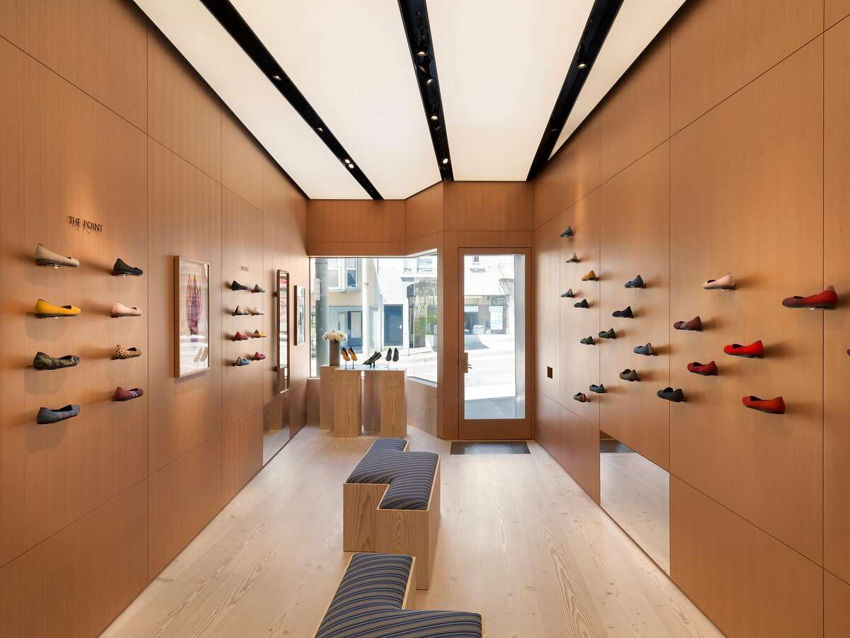 Rothy�s, which seels seamlessly knit sustainable footwear, opened its first retail location�at 2448 Fillmore St. on May 1, 2018.�Situated on the iconic Fillmore Street and previously a beloved neighborhood shoe repair shop, the 600 square feet�space maintains its historic charm with an updated clean and modern feel, offering evergreen and new styles.and new Point, Flat and Loafer styles. Designed by San Francisco -based Steven Volpe, the space mimics Rothy�s �live seamlessly� mantra with walls and floors that appear as one continues piece of wood paneling and upholstered surfaces on the benches and chairs are entirely covered in the brands recycled and 3-D knit materials.