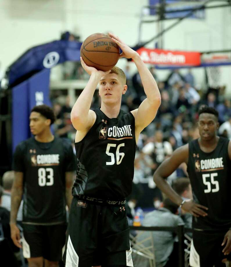 Kevin Huerter, from Maryland, participates in the NBA draft basketball combine Thursday, May 17, 2018, in Chicago. (AP Photo/Charles Rex Arbogast) Photo: Charles Rex Arbogast / Copyright 2018 The Associated Press. All rights reserved.