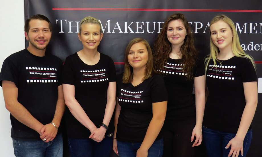 Pictured are members of the first class at the Makeup Department and Academy. This session will end in June.