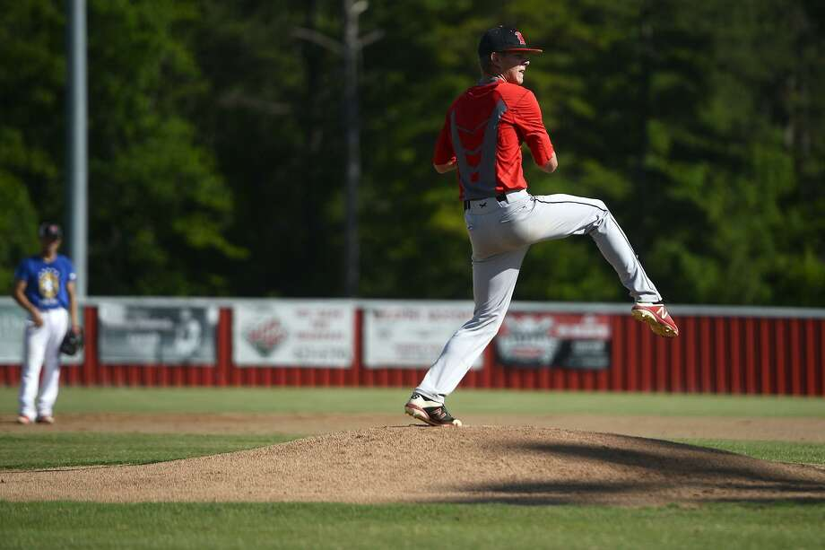 Kirbyville pitcher James Burchett throws from the mound during the baseball team's practice on Wednesday, May 30. 