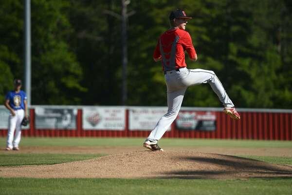 Kirbyville pitcher James Burchett throws from the mound during the baseball team's practice on Wednesday, May 30.   Photo taken Wednesday 5/30/18  Ryan Pelham/The Enterprise