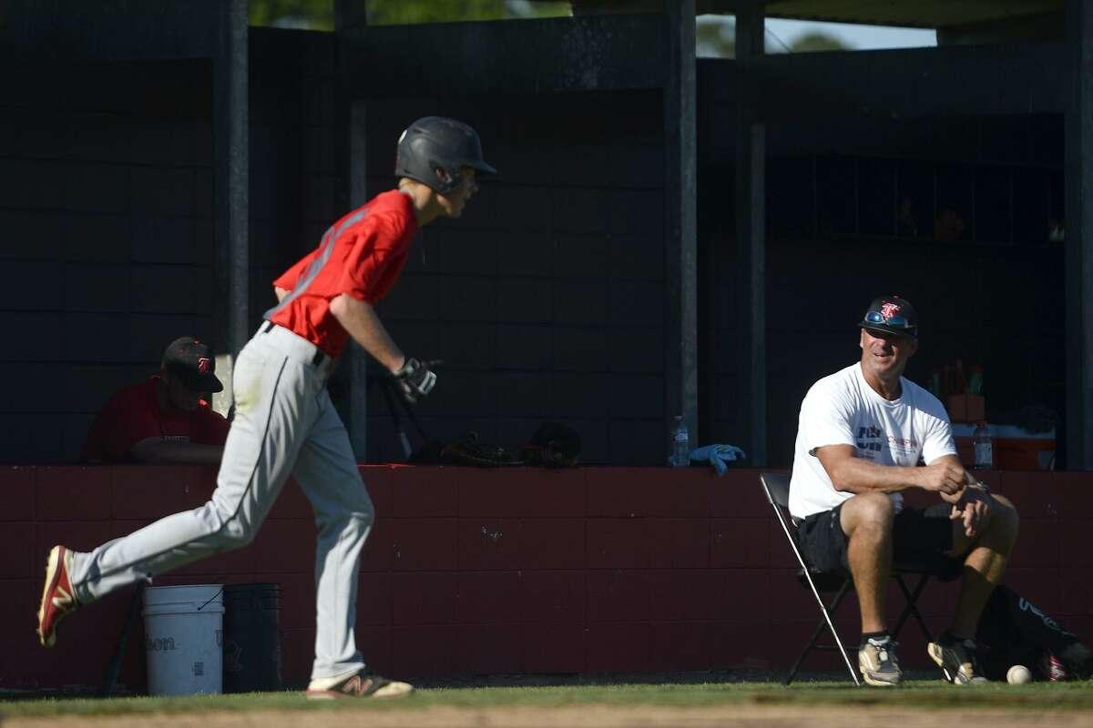 Kirbyville baseball coach Craig Jones during the team's practice on Wednesday, May 30. Photo taken Wednesday 5/30/18 Ryan Pelham/The Enterprise