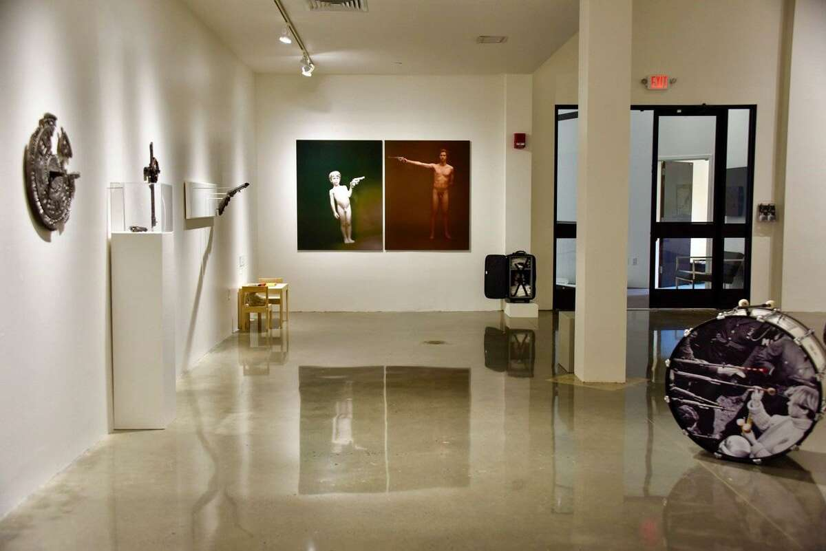 """""""Guns in the Hands of Artists"""" runs from June 1 through Oct. 13 at Fairfield University's Quick Center for the Arts."""