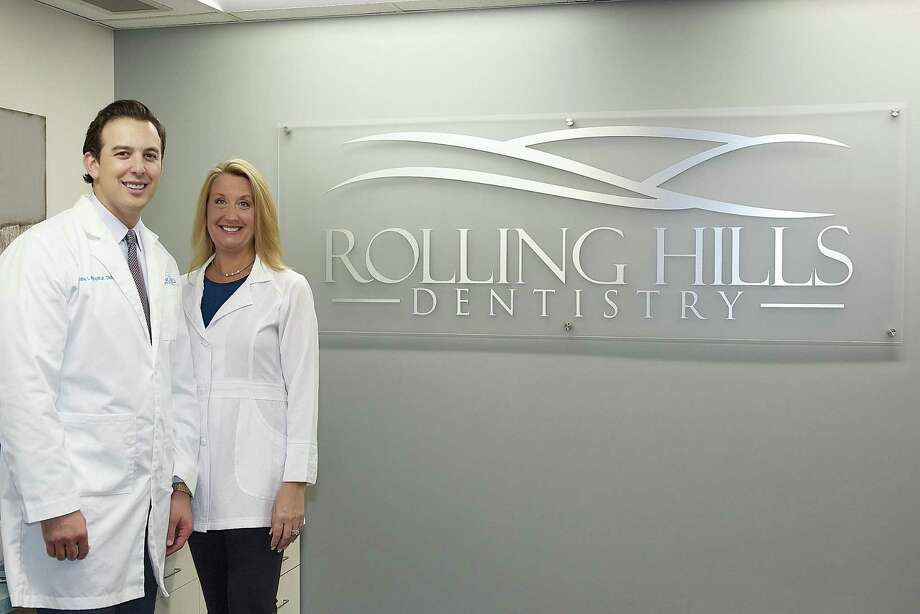 Dentists Blake Winokur and Jennifer Boyce stand in their office at 53 North St. in Danbury, Conn. Winokur started Rolling Hills Dentistry in 2016 and Boyce joined the practice in spring of 2018. Photo by Sloan T. Howard. Photo: Contributed Photo / The News-Times Contributed