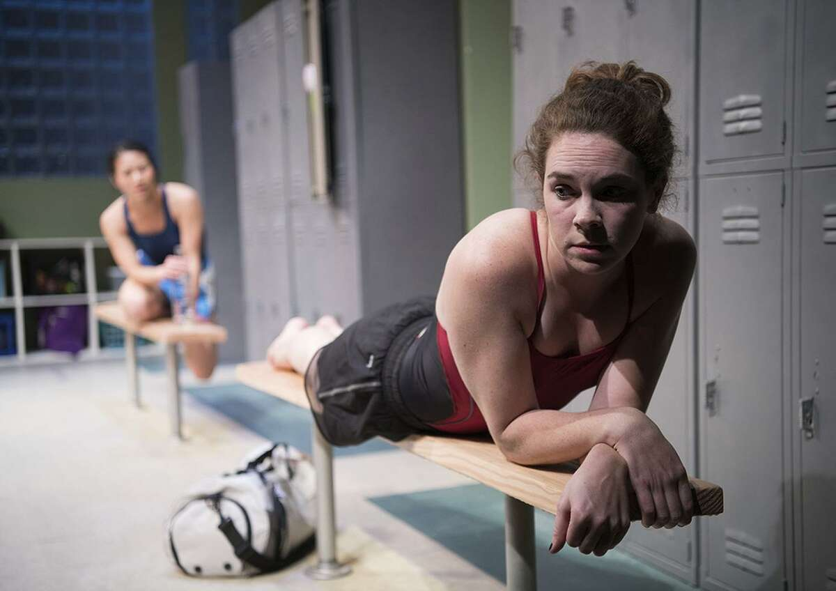 Martha Brigham (foreground) plays Amy and Grace Ng is Ester in Shotgun Players'