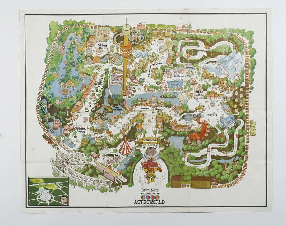 David Purdie's 1972 map of Astroworld. Photo: Houston Chronicle