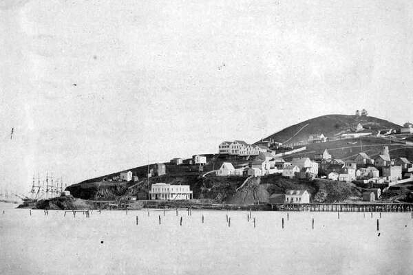 North Point, Telegraph Hill and part of North Beach from San Francisco Bay, 1855