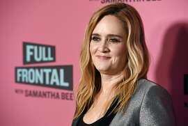 "FILE - In this May 24, 2018 file photo, Samantha Bee, host of ""Full Frontal with Samantha Bee,"" poses at an Emmy For Your Consideration screening of the television talk show at the Writers Guild Theatre in Beverly Hills, Calif. Bee is under fire for referring to Ivanka Trump as a ""feckless c---"" on her TBS comedy show. White House press secretary Sarah Sanders on Thursday called Bee's language ""vile and vicious."" (Photo by Chris Pizzello/Invision/AP, File)"