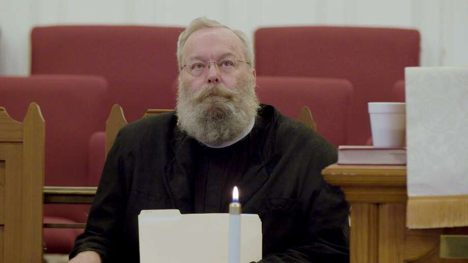 "In this scene from the documentary TV series ""VICE"" on HBO, Rev. John Fluth talks to his congregation at First United Methodist Church in Del Rio. Fluth is also a member of SETI@home, a crowdsourced network that analyzes outer space signals for signs of extraterrestrial intelligence. Photo: Courtesy ""VICE"" On HBO"