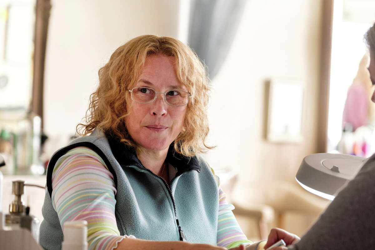 Patricia Arquette as Joyce Mitchell in the Showtime miniseries