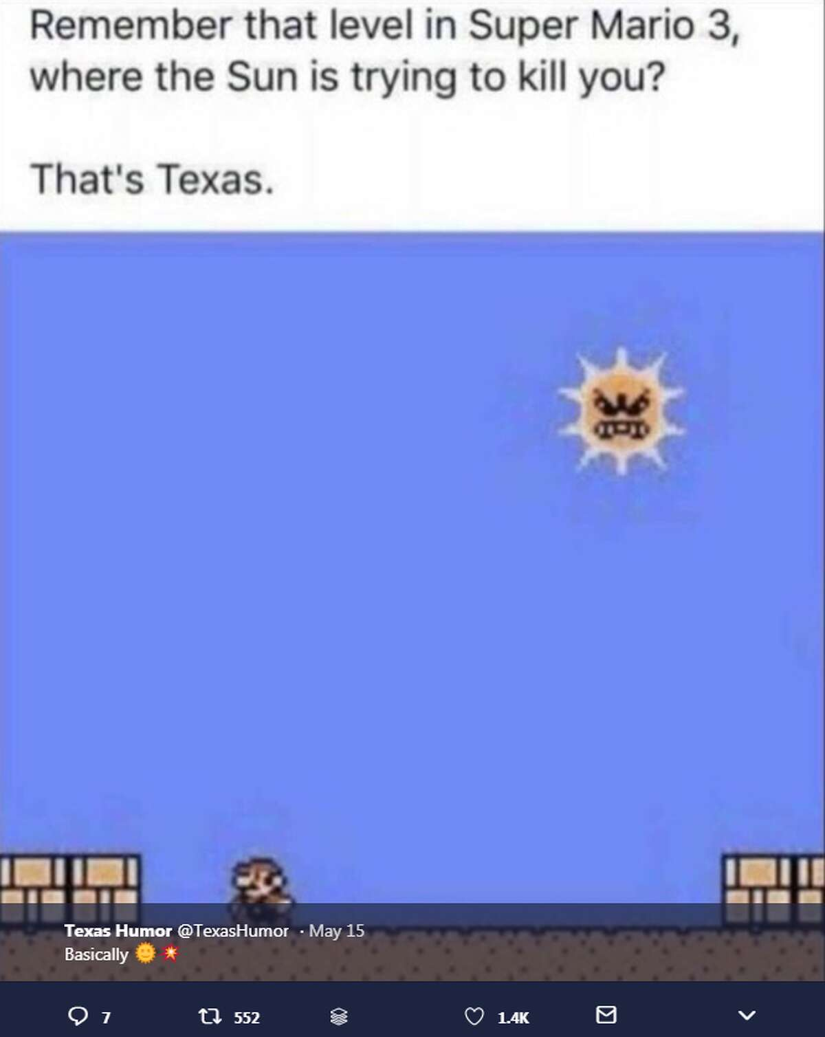 It's summer in Texas and these memes perfectly describe the struggle of dealing with months of intense heat. Photo: @TexasHumor Twitter