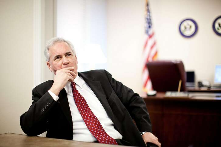 Republican Rep. Tom McClintock is interviewed in his office February 19, 2013 in Granite Bay, California.