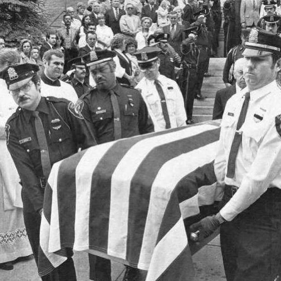 Officer Kenneth E. Bateman, Jr., was shot and killed around 3 a.m. on May 31, 1981, in Darien, Conn. He was sent to the fast food joint to check on a commercial burglar alarm activation. Photo: Contributed Photo / Darien Police Department