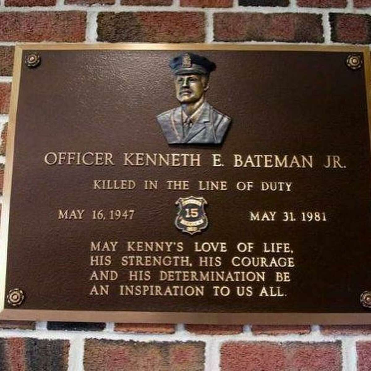Officer Kenneth E. Bateman, Jr., was shot and killed around 3 a.m. on May 31, 1981, in Darien, Conn. He was sent to the fast food joint to check on a commercial burglar alarm activation.