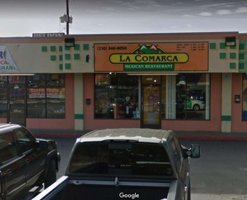 La Comarca Mexican Restaurant: : 5131 West Ave. Date: 05/14/2019 Score: 74 Highlights: Employee cutting vegetables next to thawing ground beef. Prepared foods were improperly labeled. Food debris was observed at the bottom of the sink basin. Staff using grocery bags to store food. Visible soiled meat cutting machine, visible soiled cutting boards and drying racks with mildew-like substance.