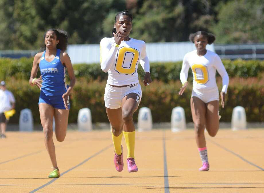 Tierra Robinson-Jones of Bishop O'Dowd-Oakland is among the state leaders at 200 and 400 meters heading into this weekend's state meet in Clovis. Photo: Eric Taylor / 1stString.com