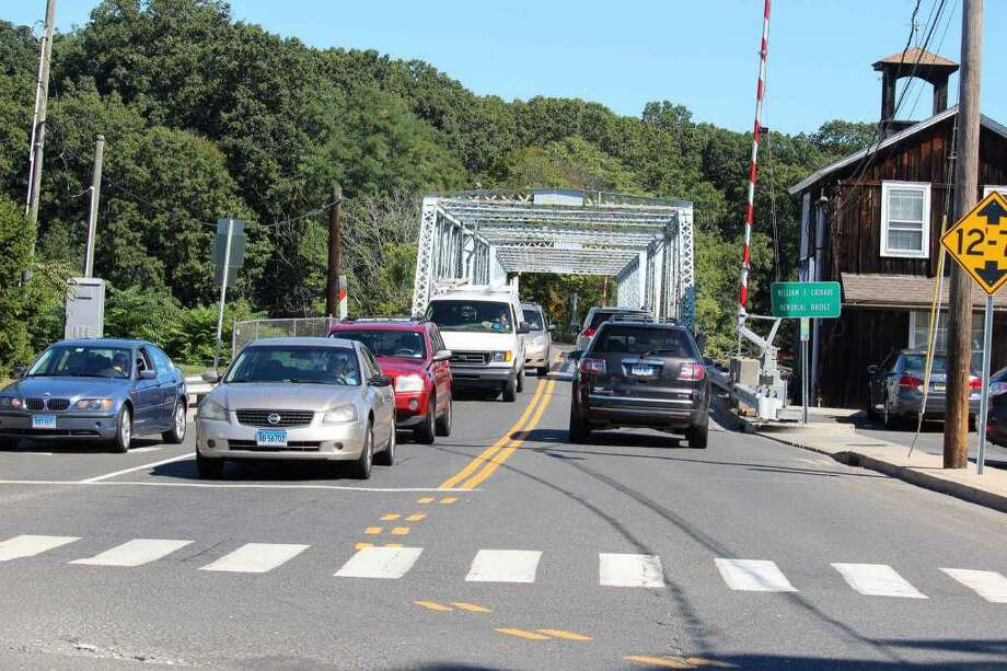 The William F. Cribari Memorial Bridge. Photo: Chris Marquette / Hearst Connecticut Media / Westport News