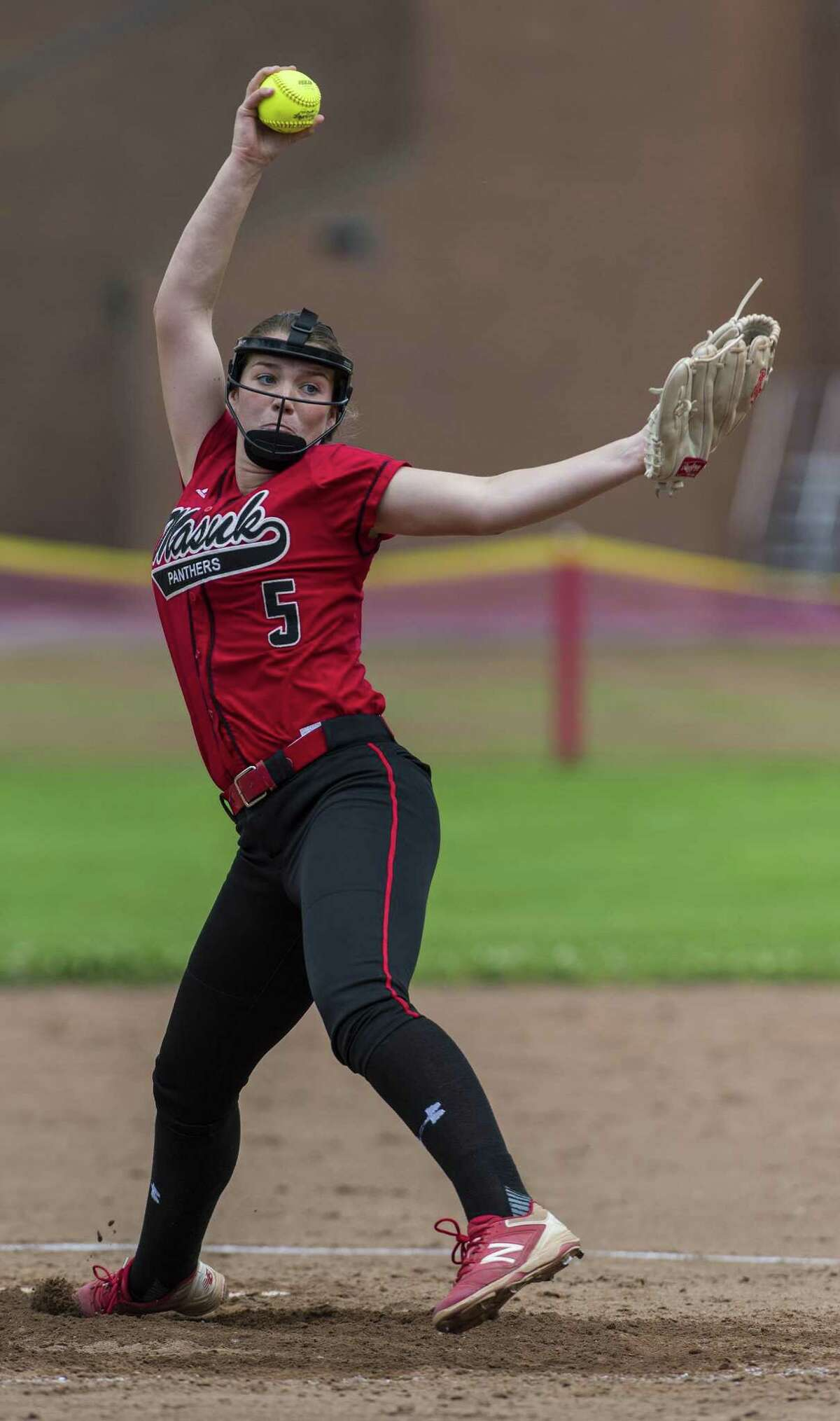 Masuk junior pitcher Samantha Schiebe is pitching to a 0.64 ERA for the undefeated Panthers.