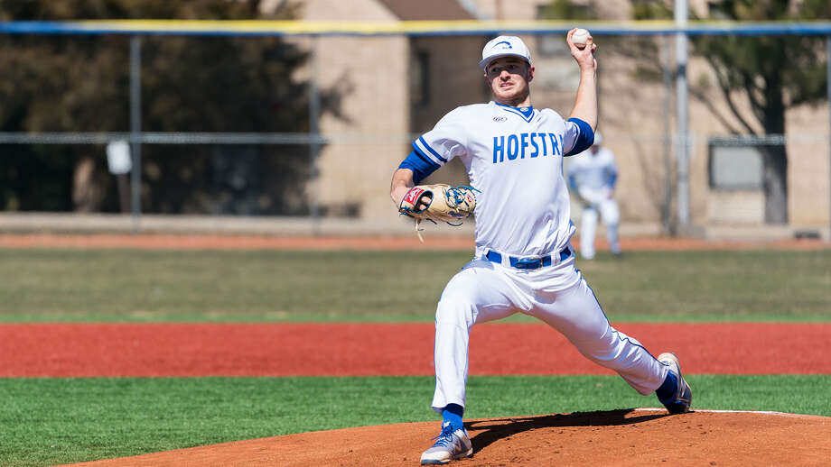 Hoosic Valley graduate John Rooney of the Hofstra baseball team. (Courtesy of Hofstra)