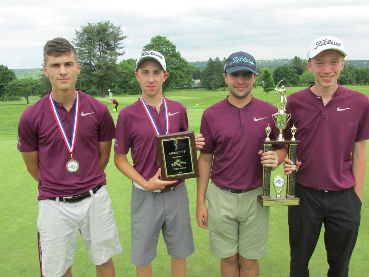 Torrington finished second in the NVL golf tournament on Thursday at the Watertown Golf Cub. Pictured left to right are: John Roscello, Jon Ledda, Greg Aschenbrenner and Anthony Marinelli.