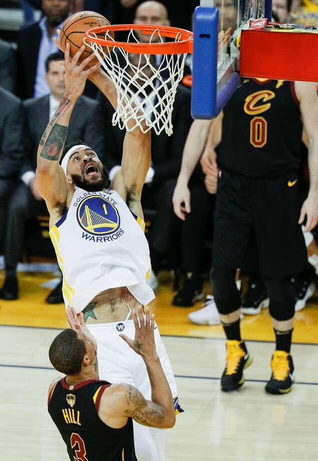 e42e2e80704 Golden State Warriors  JaVale McGee goes up for a rebound over Cleveland  Cavaliers  George