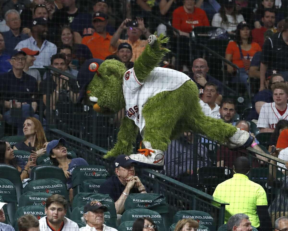 Houston Astros mascot Orbit, May 20