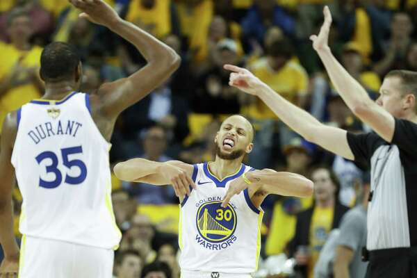 f703c662c00 1of56Golden State Warriors  Stephen Curry reacts in the third quarter  during game 1 of The NBA Finals between the Golden State Warriors and the  Cleveland ...