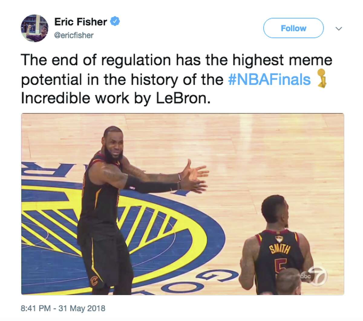 The best memes from Game 1 of the NBA Finals on May 31, 2018.