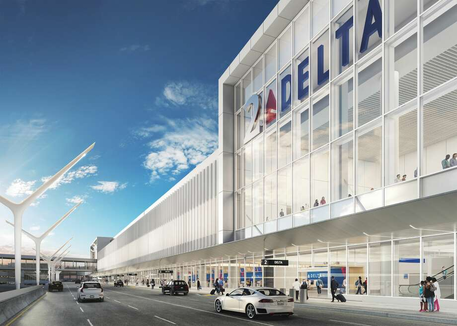 """Delta's Terminals 2 and 3 will become the new """"Sky Way"""" at Los Angeles International LAX Photo: Delta Air Lines"""
