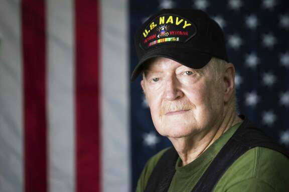 Richard Shafer, is a Vietnam Veteran of the US Navy has been vocal about the thousands of veterans who have been denied Agent Orage coverage by the VA. Shafer believes his health was affected by Agent Orange. He suffers from type II diabetes, prostate cancer and Ischemic Heart Disease. Thursday, May 31, 2018, in Crosby. ( Marie D. De Jesus / Houston Chronicle )