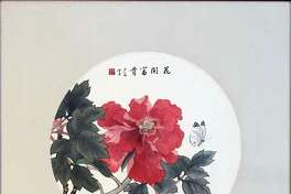 """Nobility, Peony and Butterfly,"" by Marjorie Poe, who will discuss and demonstrate Chinese ink wash painting at the Fairfield County Arts Association's June 13 meeting."